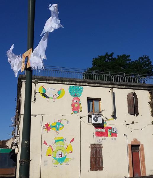 Déco murale de l'atelier de Marianne Bouvet - Décos d'Ecoles 2019  ©MikaLopez