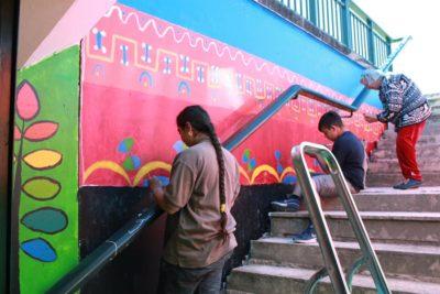 Fresque du Passage ©Mika Lopez